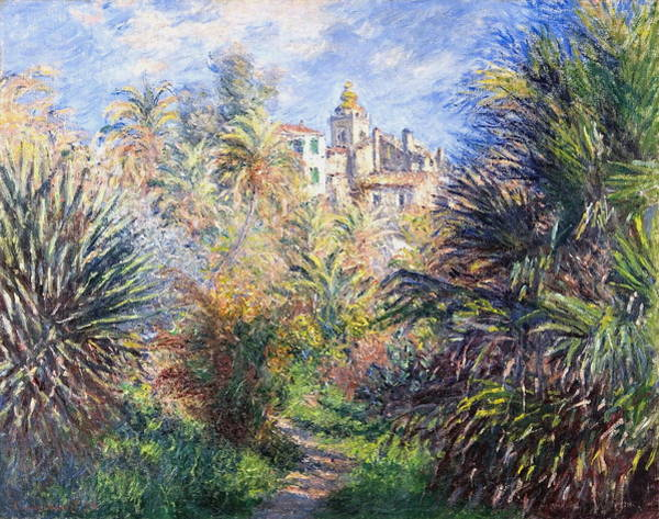 Royal Street Painting - Gardens Of The Villa Moreno, Bordighera 1884 by Claude Monet