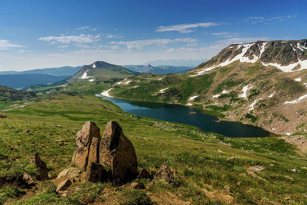 Photograph - Gardner Lake Wyoming At The Top Of The World by TL Mair