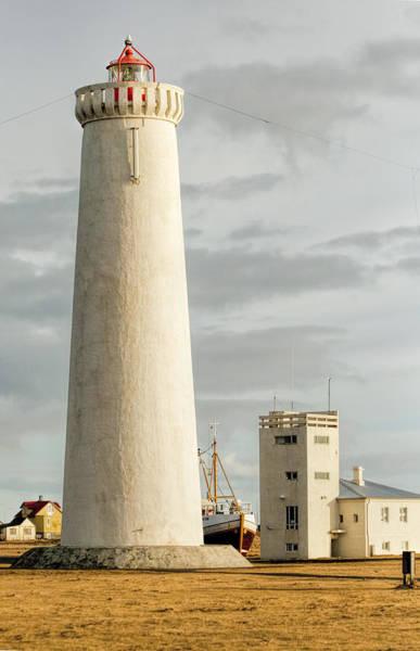 Photograph - Gardskagi Lighthouse Iceland by Kristia Adams