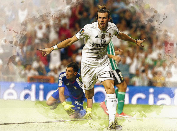 Manchester United Fc Wall Art - Digital Art - Gareth Bale Celebrates His Goal  by Don Kuing
