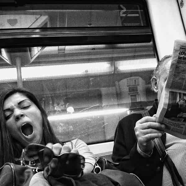 Portrait Photograph - Gargantua Lady #metro #portrait by Rafa Rivas