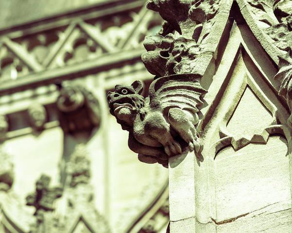 Photograph - Gargoyle A On St Mary Redcliffe Church Bristol by Jacek Wojnarowski