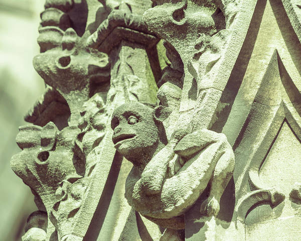 Photograph - Gargoyle C On St Mary Redcliffe Church Bristol by Jacek Wojnarowski