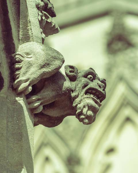 Photograph - Gargoyle F On St Mary Redcliffe Church Bristol by Jacek Wojnarowski