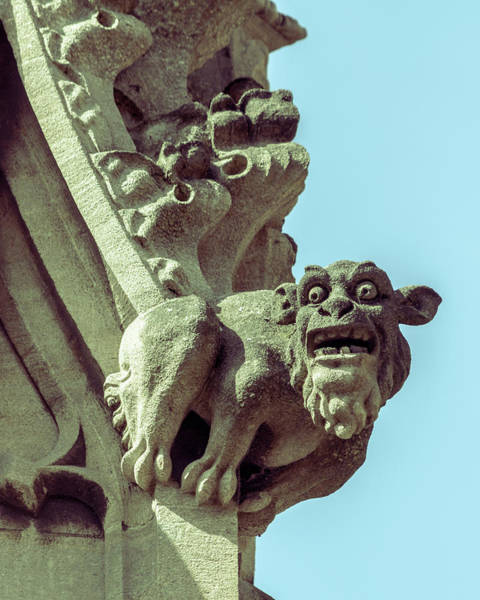 Photograph - Gargoyle G On St Mary Redcliffe Church Bristol by Jacek Wojnarowski