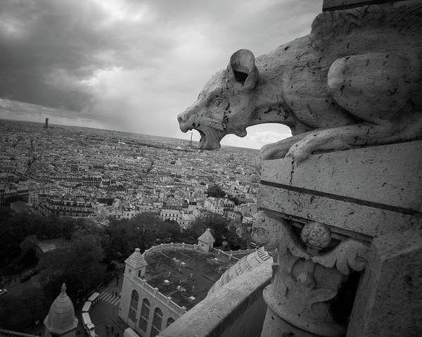 Photograph - Gargoyle Hungry For The Eiffel Tower by James Udall