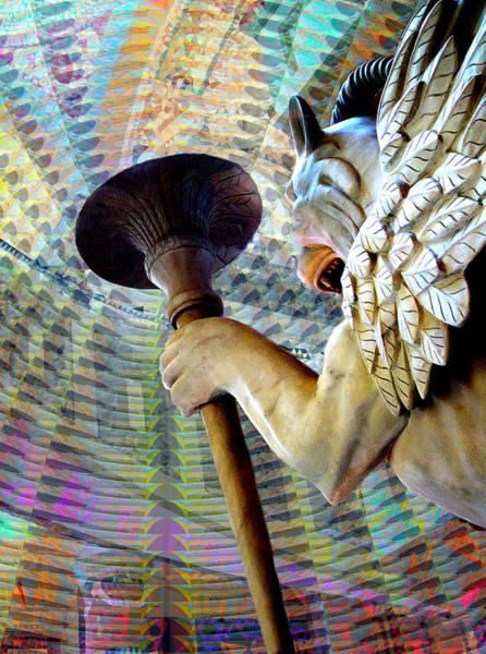 Grotesque Digital Art - Gargoyle by Joy Arnold