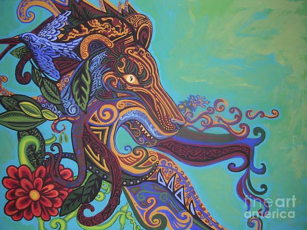 Burnt Sienna Wall Art - Painting - Gargoyle Lion by Genevieve Esson