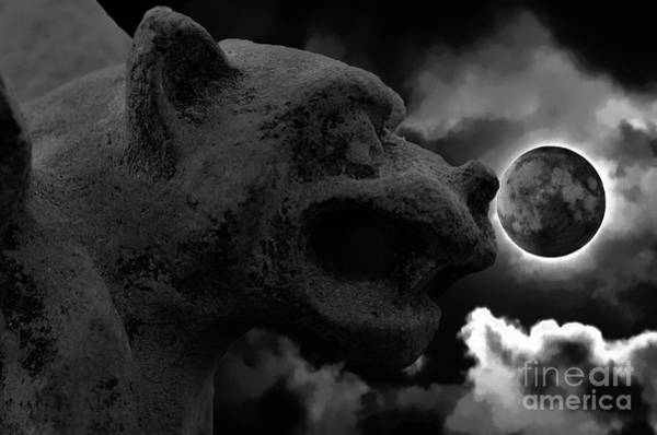 Photograph - Gargoyle Moon by Dale Powell