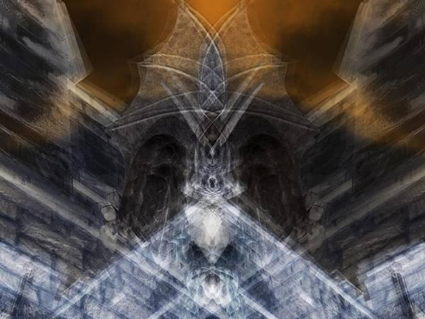 Gargoyle Digital Art - Gargoyle Priestess  by Deemarie Valenza