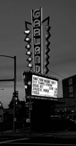 Wall Art - Photograph - Garland Theater Marquee - Spokane by Daniel Hagerman