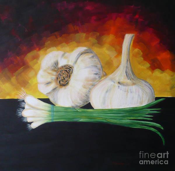 Painting - Garlic And Onion by Monika Shepherdson