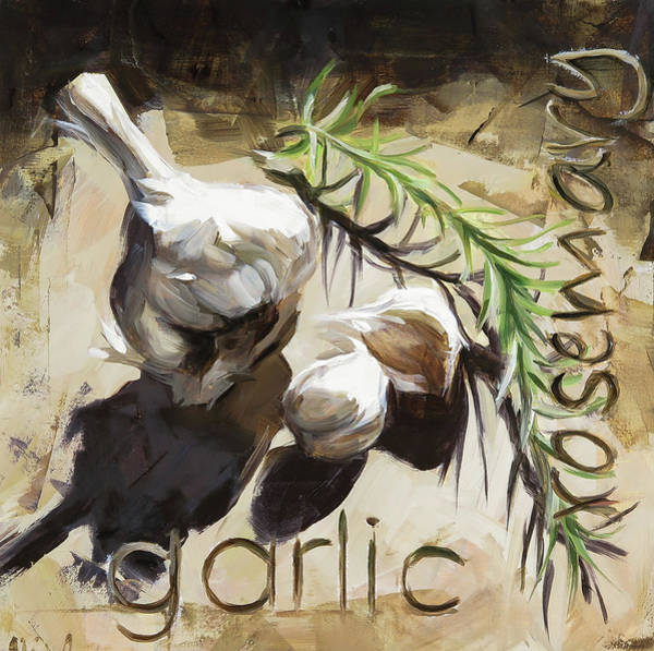 Rosemary Painting - Garlic by Annie Salness