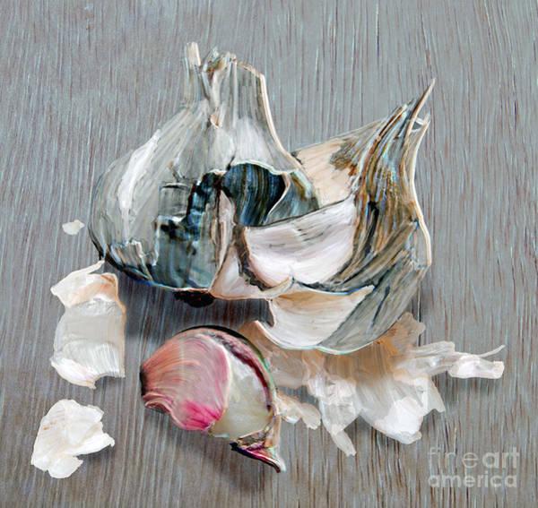 Ingredient Digital Art - Garlic Bulb by Nigel Bangert