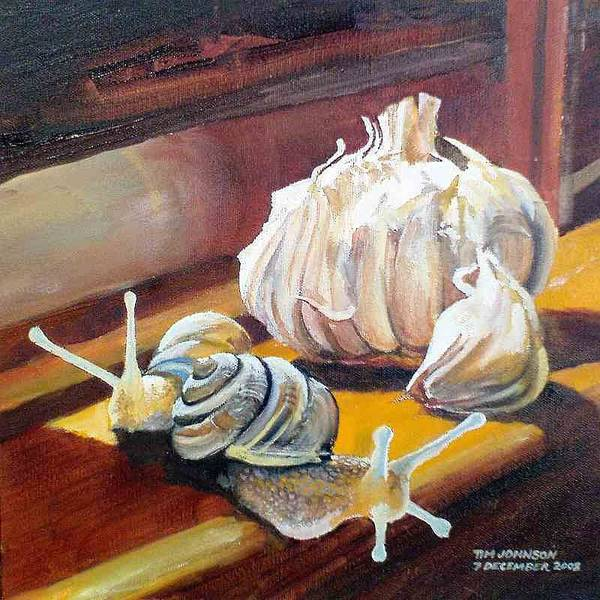 Painting - Garlic by Tim Johnson