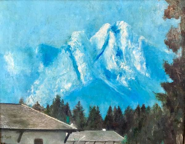 Bavarian Alps Painting - Zugspitze by Jerry Bridges