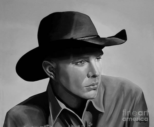 Brook Mixed Media - Garth Brooks by Meijering Manupix