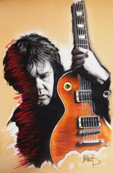 Wall Art - Pastel - Gary Moore by Melanie D