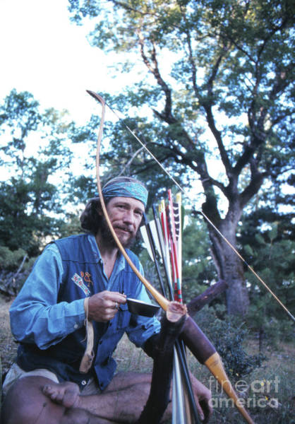 Archery Photograph - Gary Snyder, Drinking Tea, 1969 by The Harrington Collection