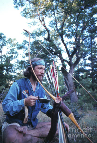 Archery Photograph - Gary Snyder, In The Sierra Nevada, 1969 by The Harrington Collection