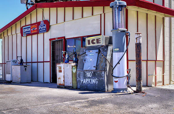 Photograph - Gas And Ice by Gene Parks