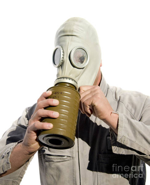 Gasmask Photograph - Gas Gasp by Jorgo Photography - Wall Art Gallery