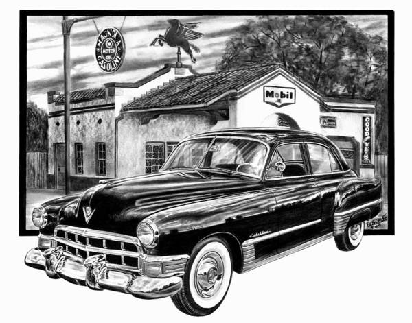 Gas Station Drawing - Gas Hog 41 by Peter Piatt