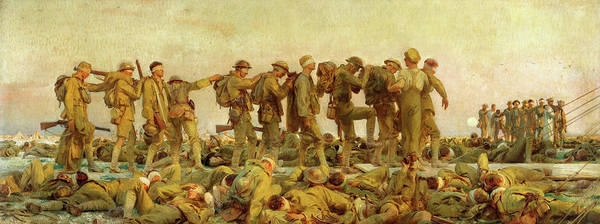 Mustard Painting - Gassed by John Singer Sargent