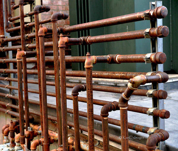 Wall Art - Photograph - Gas Pipes And Fittings by Kae Cheatham