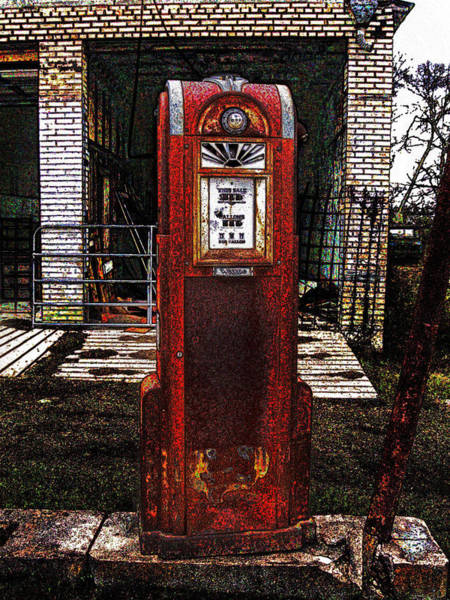 Digital Art - Gas Pump 2 by James Granberry