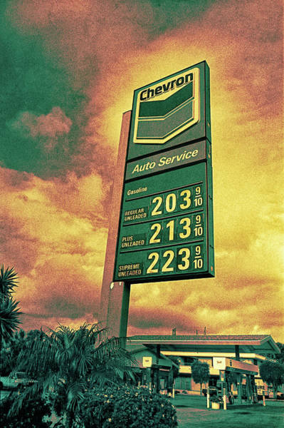 Wall Art - Photograph - Gasoline Prices On Stormy Day by YoPedro