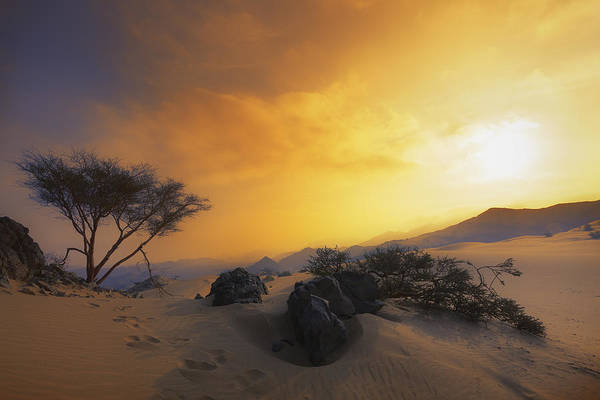 Photograph - Dramatic Desert  by Khaled Hmaad