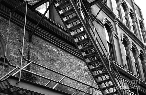 Photograph - Gastown Escape Route Mono by John Rizzuto