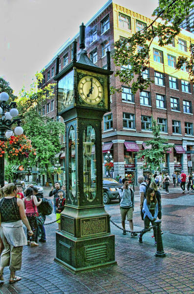 Photograph -  Gastown Steam Clock, Vancouver  Canada by Ola Allen