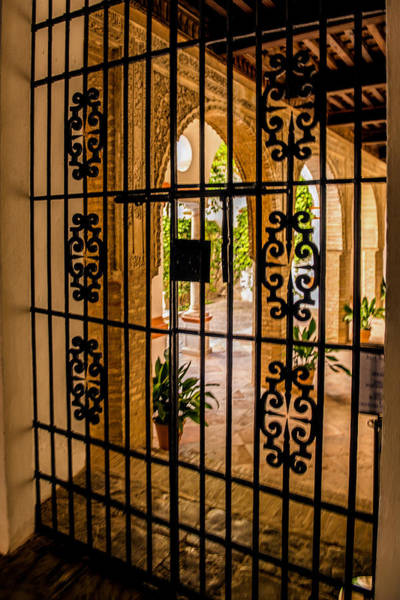 Iron Maiden Wall Art - Photograph - Gate - Alcazar Of Seville - Seville Spain by Jon Berghoff