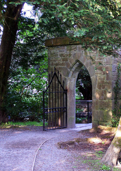 Wall Art - Photograph - Gate At Cong Abbey Cong Ireland by Teresa Mucha