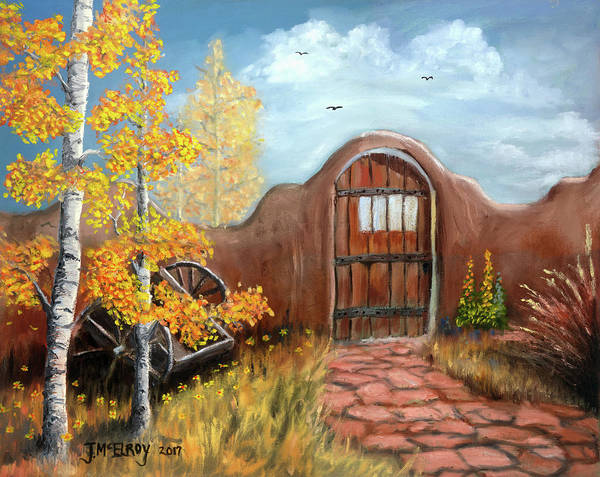Adobe Walls Painting - Gate By The San Juan by Jerry McElroy