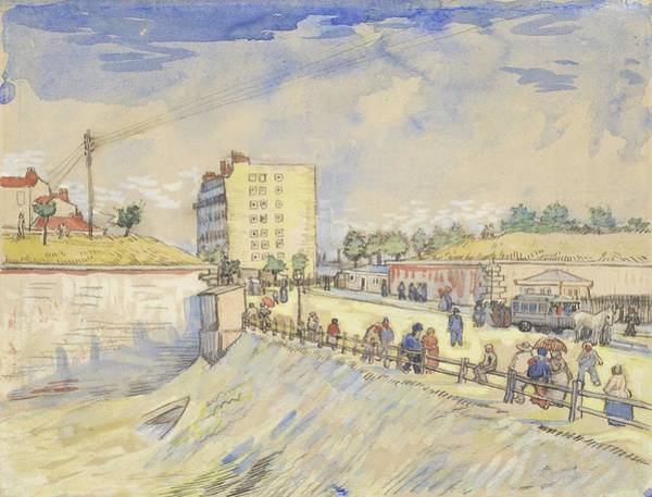 Painting - Gate In The Paris Ramparts Paris, June - September 1887 Vincent Van Gogh 1853  1890 by Artistic Panda