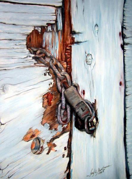 Wall Art - Painting - Gate Lock by Leyla Munteanu