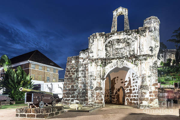 Photograph - Gate Of A Famosa Fort In Melaka, Malaysia by Didier Marti