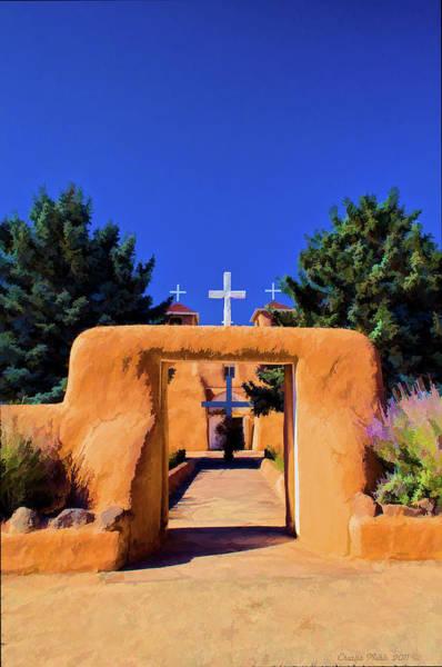 Digital Art - gate of church in Ranchos by Charles Muhle