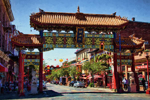 Photograph - Gate Of Harmonious Interest - Chinatown - Victoria British Columbia by Peggy Collins
