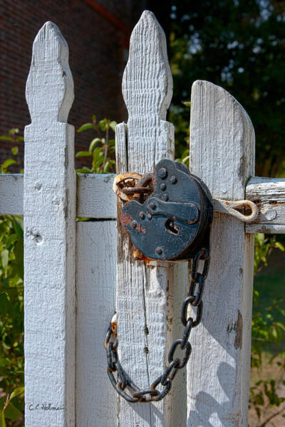 Photograph - Gate Secured by Christopher Holmes