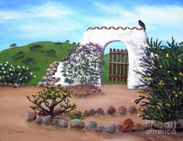 Adobe Painting - Gate To Nowhere by Laura Iverson