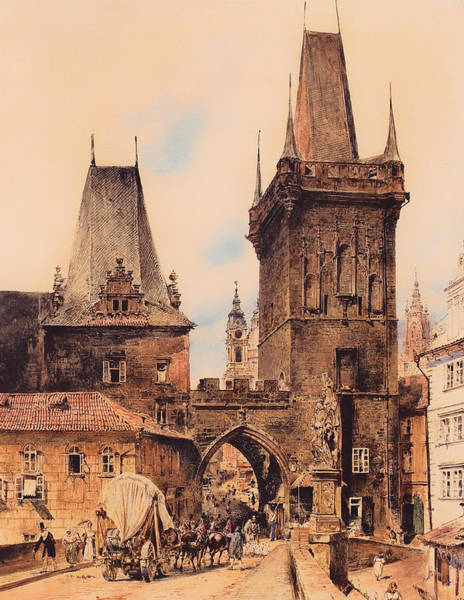 Gateway Arch Painting - Gate To Prague by Mountain Dreams