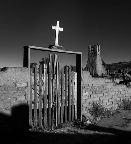 Wall Art - Photograph - Gate With Cross by Joseph Smith