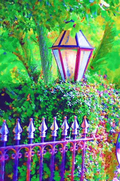 Photograph - Gate With Lantern by Donna Bentley