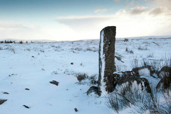 Photograph - Gatepost In The Snow by Helen Northcott