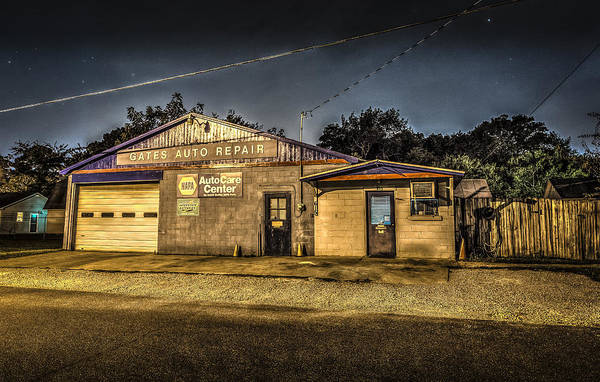 Photograph - Gates Auto Repair by David Morefield