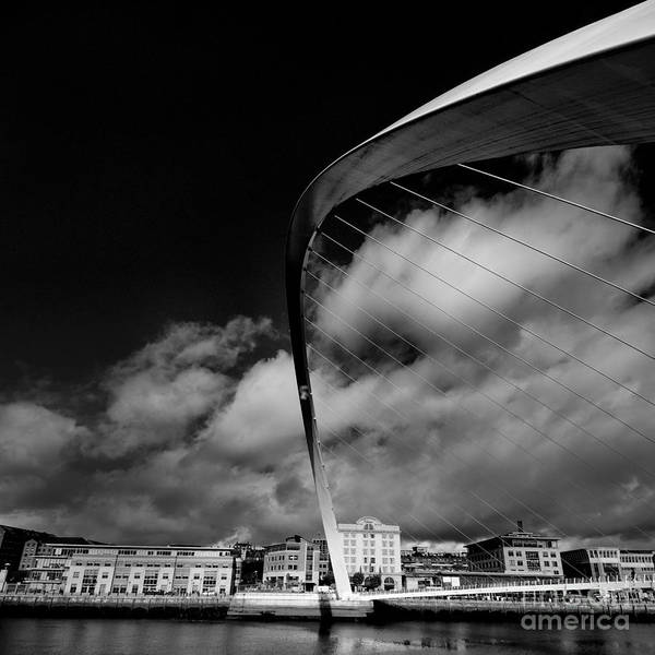 Mono Photograph - Gateshead Millenium Bridge by Smart Aviation